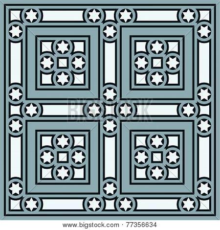 Vintage Ornamental Tile Set S...