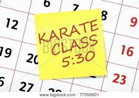 Karate Class Reminder