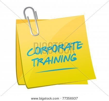 Corporate Training Memo Post Illustration