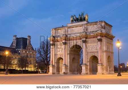 Arch of Triumph in Paris (France)