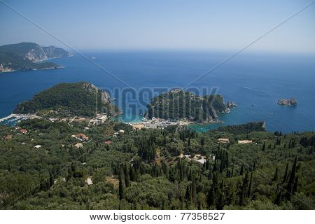 View on Paleokastritsa, Corfu, Greece