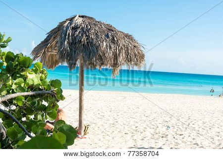 Scene Of Varadero Beach In Cuba