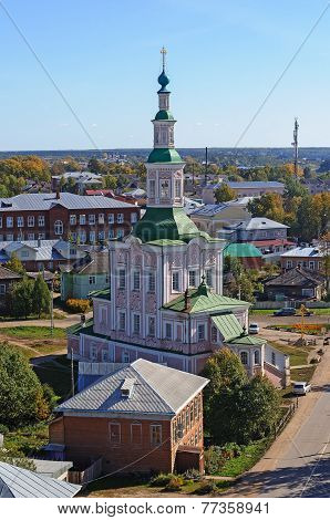 Church Of The Nativity In Ancient Russian Town Tot'ma