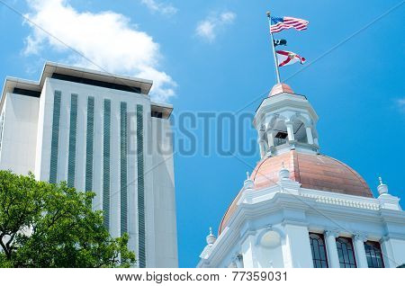 Tallahassee Capitol Buildings in the Afternoon