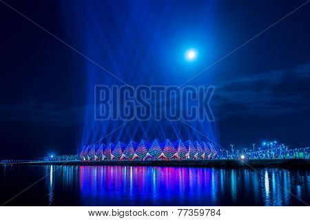 Baku - JUNE 11, 2014: Crystal Hall on June 11 in Azerbaijan, Baku. Crystal Hall hosted Eurovision song contest in 2012