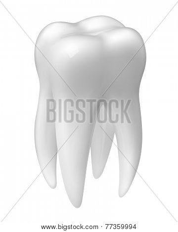 Vector molar tooth icon isolated on white