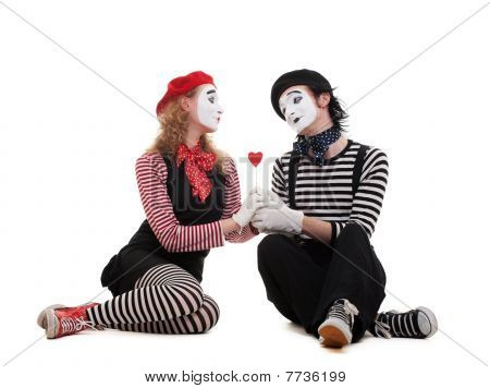 Smiley Mimes In Love