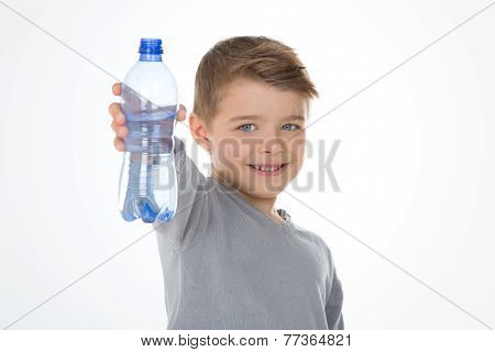 Kid With A Cointaner Of Water