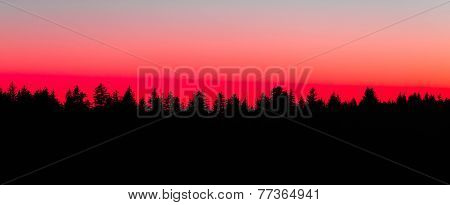 Middle Prong Sunset Silhouette