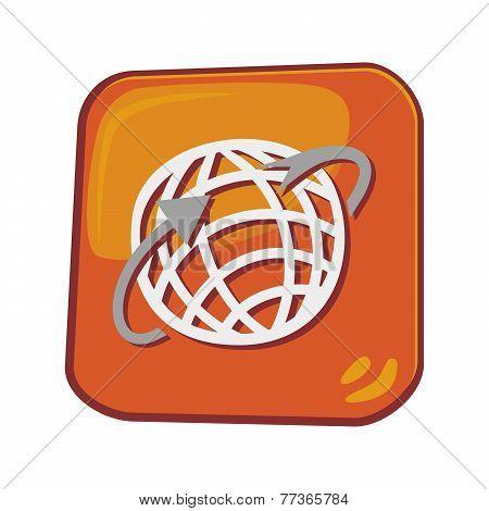web browser globe icon