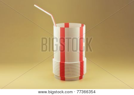Plastic straw glass