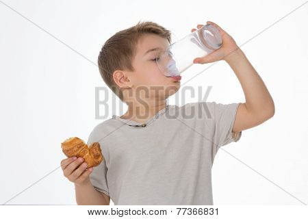 Kid Has Breakfast