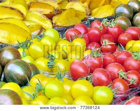 Tel Aviv Cherry Tomatoes And Star Fruit 2013