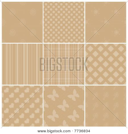 Beige textures collection