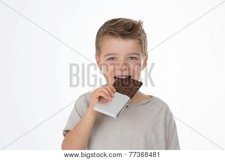 Happy Child With His Dessert