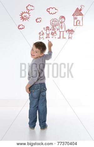 Child Represents His Own Family