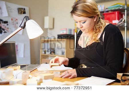 Jeweler Preparing Orders For Dispatch