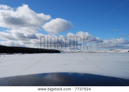 Summer Sky But Winter Loch