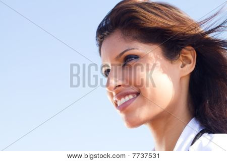 portrait of pretty indian nurse