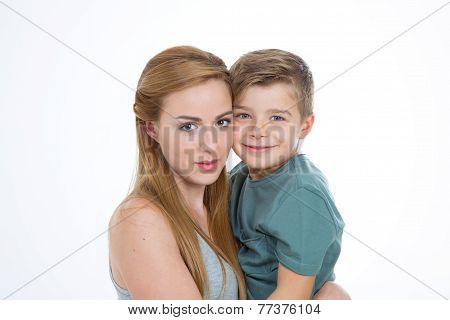 Boy And Girl On Isolated Background