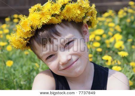 Boy In Garland