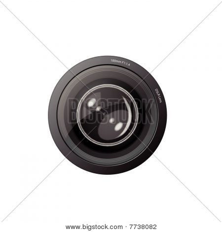 A camera lens vector illustration