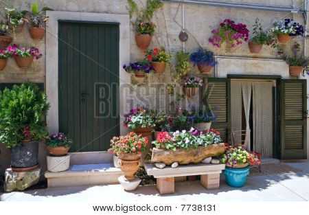 Typical house in Monopoli Oldtown. Apulia.