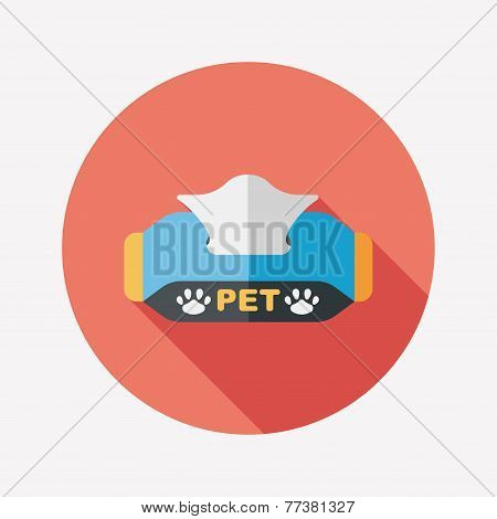 Pet Style Tissue Case Flat Icon With Long Shadow,eps10