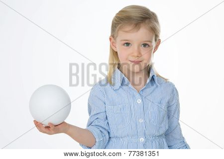 Smiling Child With White Ball
