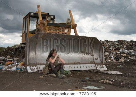 Homeless girl.