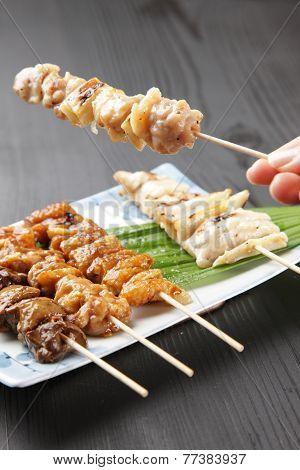 Japanese chicken BBQ called yakitori