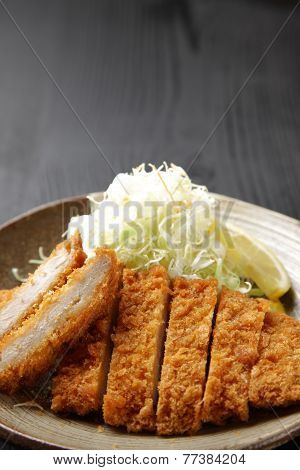Japanese food tonkatsu
