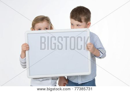 Couple Of Friends On White Background