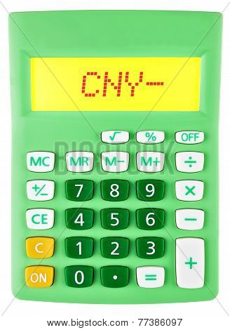 Calculator With Cny On Display