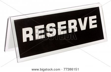 Reserve Sign for table