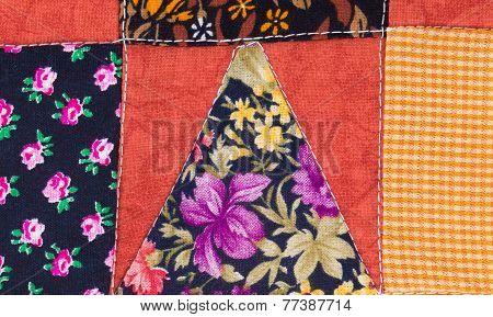handmade sewed quilt