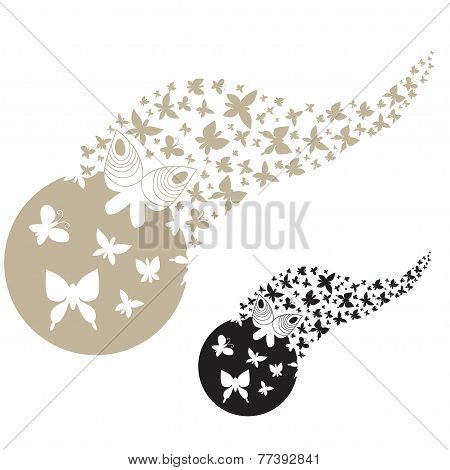 Butterflies Wall Decal Vector Design