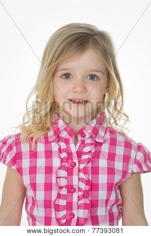 Closeup Of Nice Girl On White Background