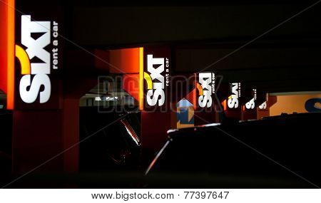 Munich, Germany - December 24, 2009:  Sixt -  Airport Car Rental.