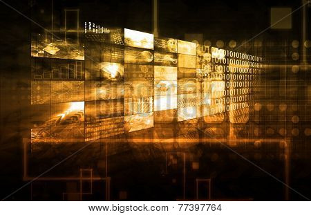 Digital Entertainment and Streaming Broadcast Technology Art
