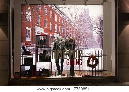 Munich, Germany - December 25, 2009: Fashion Store's Shop Window.