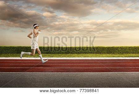 Funny Nerd Jogging