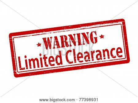 Warning Limted Clearance