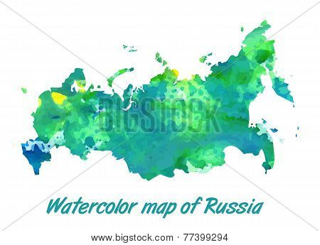 The contour map of the Russian Federation