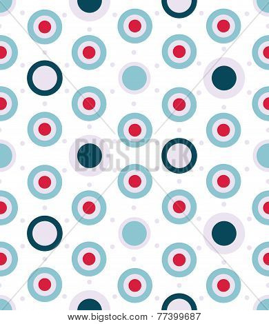 Vector Dotted Seamless Pattern In Aqua Colors Palette