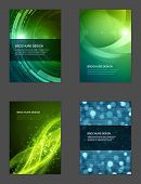 foto of brochure  - Set of Brochure Flyer design vector template Geometric Lines and Lights abstract backgrounds  - JPG