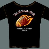 Постер, плакат: American football t shirt template