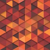 stock photo of orange  - Seamless orange vector hipster pattern - JPG