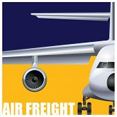 foto of aeroplane symbol  - Vector illustration on the theme of cargo air transportation - JPG