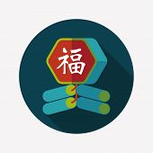 picture of chinese crackers  - Chinese New Year Flat Icon - JPG
